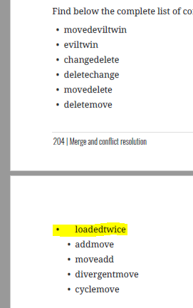 wrong indentation in list